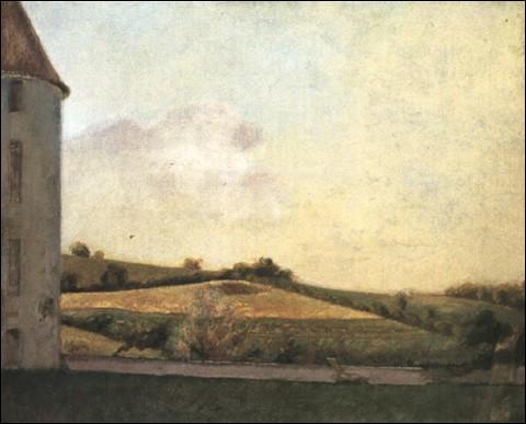 """Qui a représenté ce """"paysage à la tour"""" ?"""