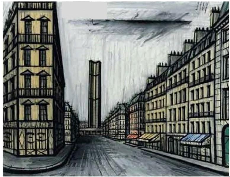 """Qui a peint """"Rue de Rennes et la tour Montparnasse"""" ?"""