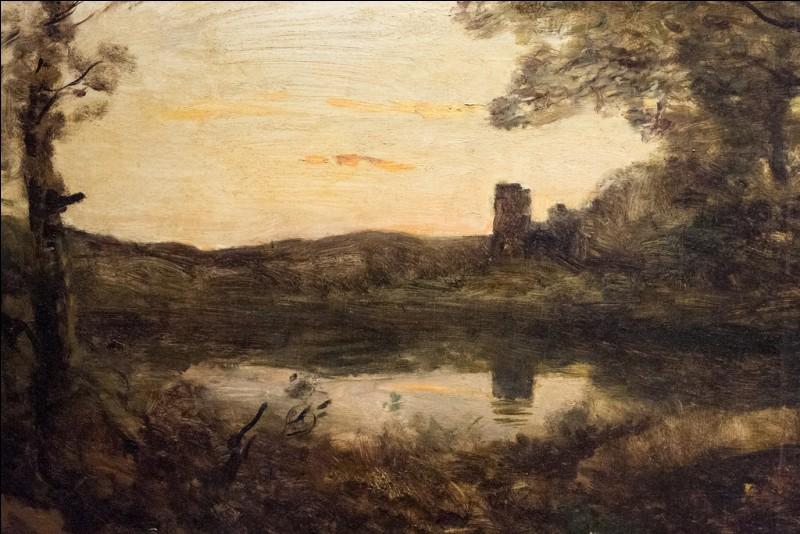 """Qui est le peintre de la toile intitulée """"Le soir, tour lointaine"""" ?"""