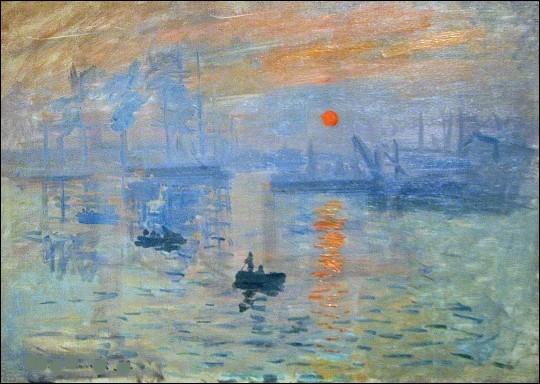C'est ta toile qui a donné son nom à l'impressionnisme :