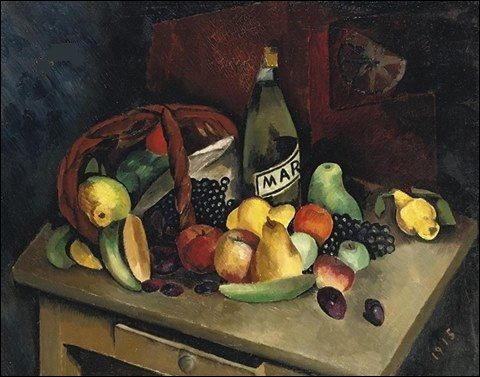 On voit des bananes parmi ces fruits, qui les a peintes ?