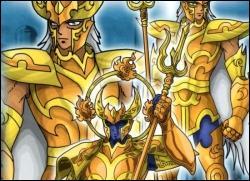 Les chevaliers du zodiaque, S'en vont toujours à l'attaque, En chantant une chanson bien haut...