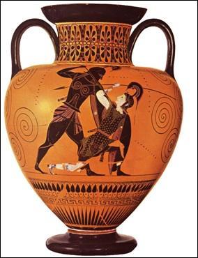 Ceci est un vase grec :