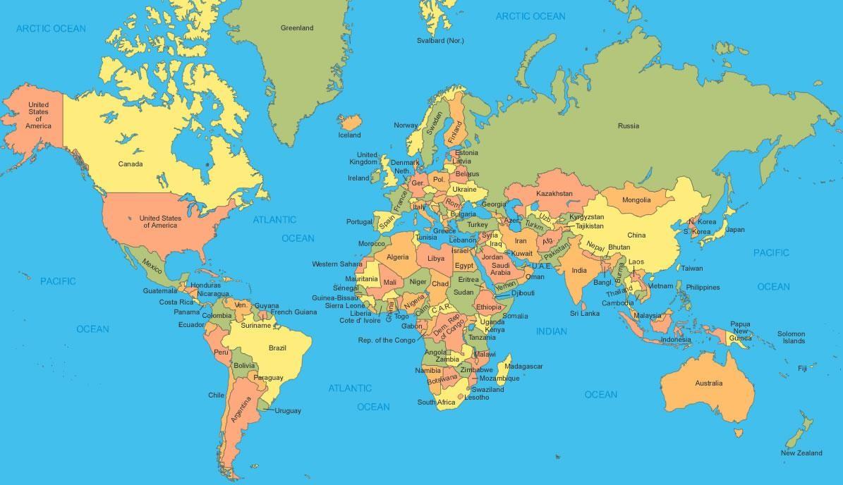Les villes des pays