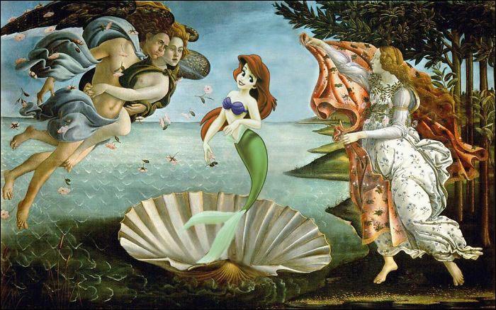 Ariel a beaucoup de chance ! Son père le Roi Triton et sur le tableau, elle représente______ !