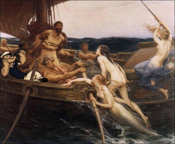 Pourquoi Ulysse est-il ligoté au mât alors que Popeye se la coule douce ?