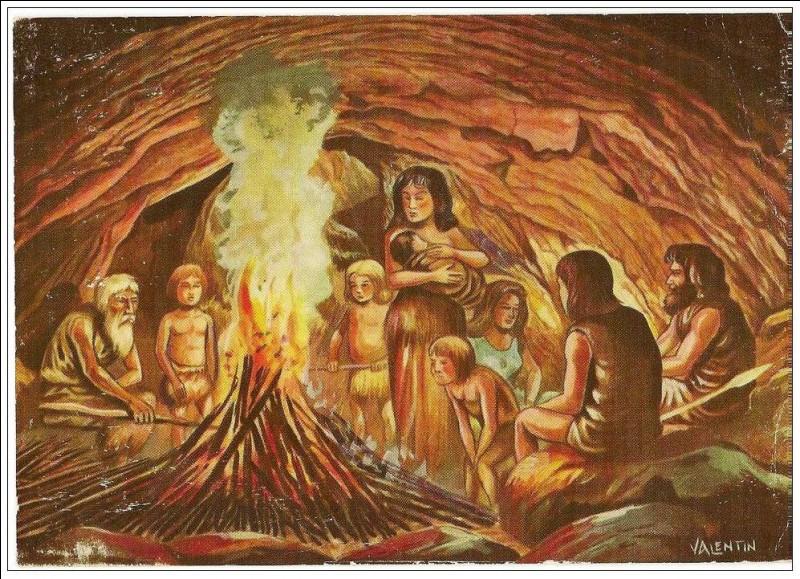 Les hommes préhistoriques allumaient du feu en frappant deux silex.