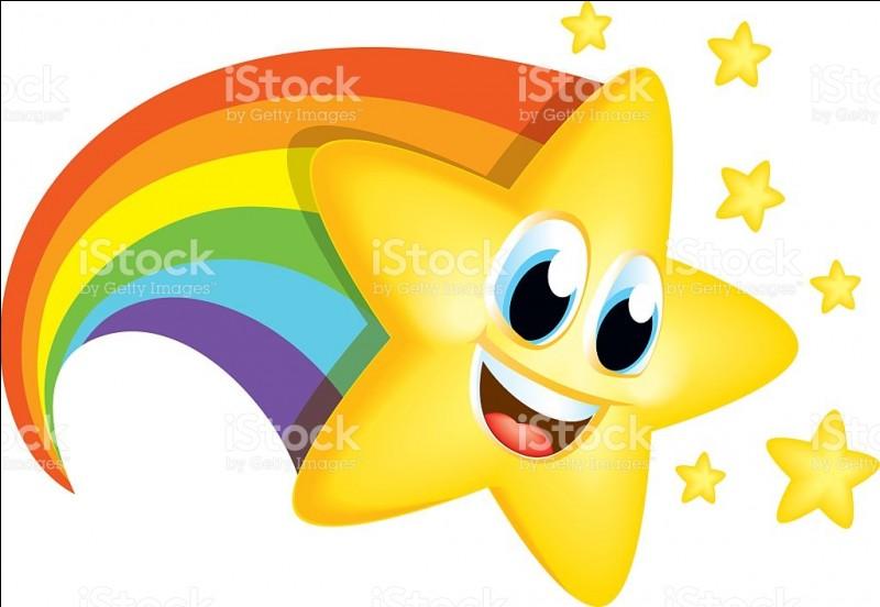 Les couleurs de l'arc en ciel sont le rouge, l'orange, le jaune, le vert, le bleu, l'indigo, le violet et le rose.
