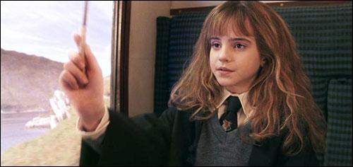 Quel est le premier sort qu'Hermione effectue devant Harry et Ron ?