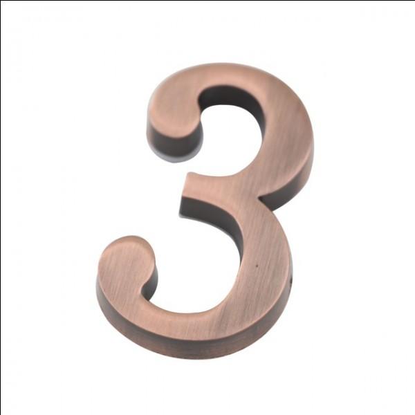 Comment écrit-on le chiffre 3 ?