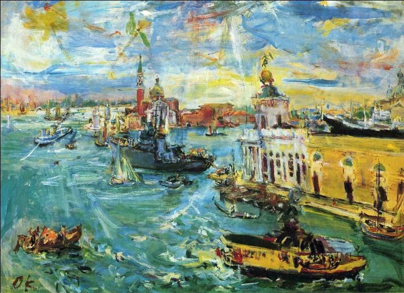 "Qui a peint ""Venice Dogana"" ?"