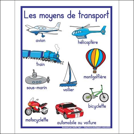 Pour aller de Paris à Marseille, quel moyen de transport ne peux-tu pas prendre ?
