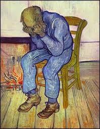 """""""À la porte de l'éternité"""" est une peinture de Paul Gauguin."""
