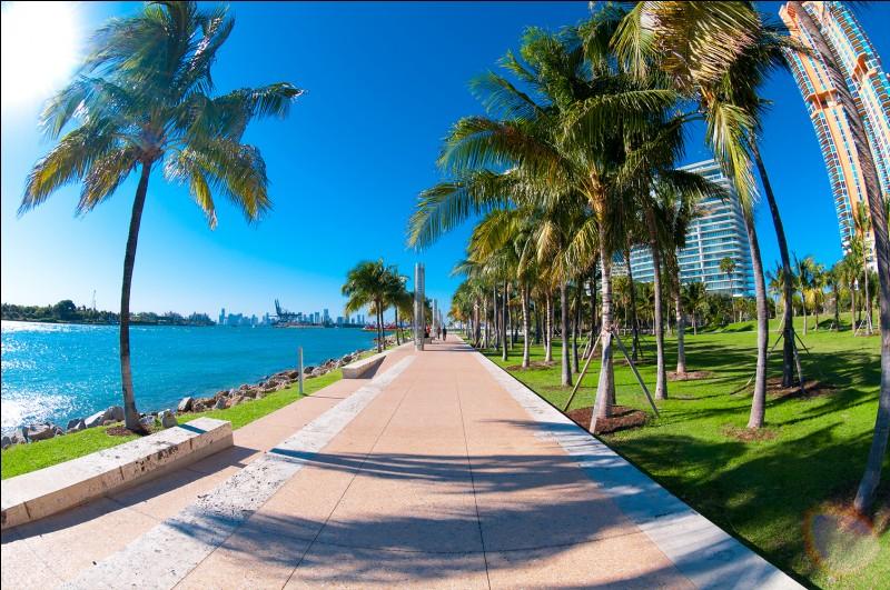 La Floride est bordée à l'ouest par le golfe du Mexique.