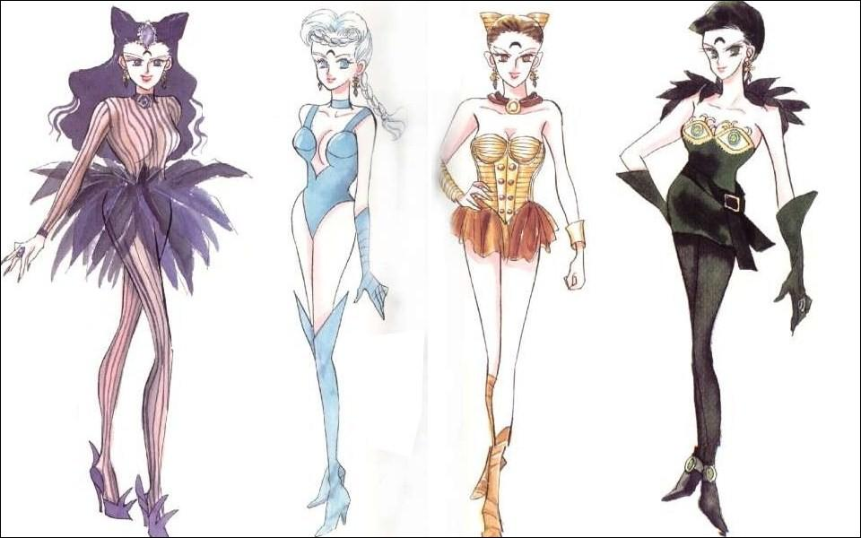 La seconde partie de la saison voit apparaître les méchants de la Lune Noire. Nommez les 4 Soeurs Diablesses dans l'ordre.