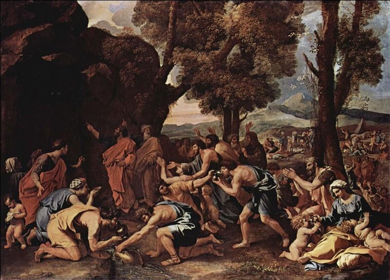 """Qui a peint """"Moïse faisant jaillir l'eau du rocher"""" ?"""