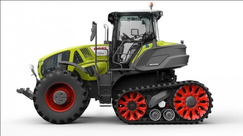 A quel Salon agricole a été dévoilé ce tracteur à chenilles Claas ?