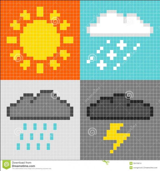 Sélectionne l'image où il pleut.