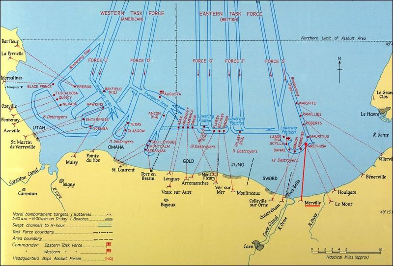 Sur quelle plage ont débarqué les troupes américaines ?