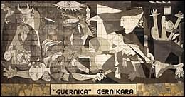 """Voici """"Guernica"""". L'un des plus célèbres tableaux de l'artiste. Mais ce tableau est censé représenter quoi ."""
