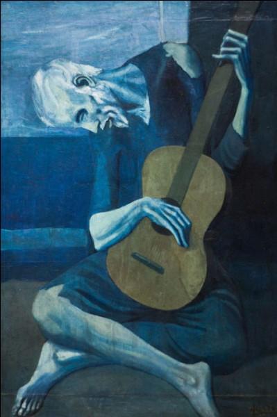 """Qui est représenté sur ce tableau intitulé """"Le Vieux Guitariste aveugle"""" ?"""