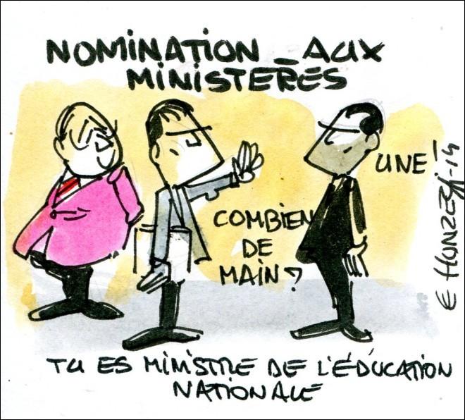 De quel ministère a-t-il hérité sous le mandat de François Hollande ?