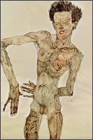 """À qui doit-on ce tableau nommé """"Autoportrait nu à la grimace"""" ?"""
