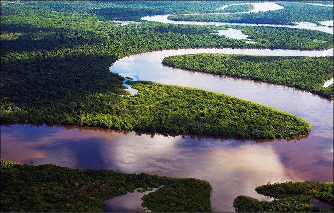 Le fleuve Amazone fait beaucoup de...