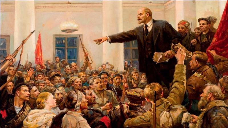 La Révolution d'Octobre a eu lieu ...