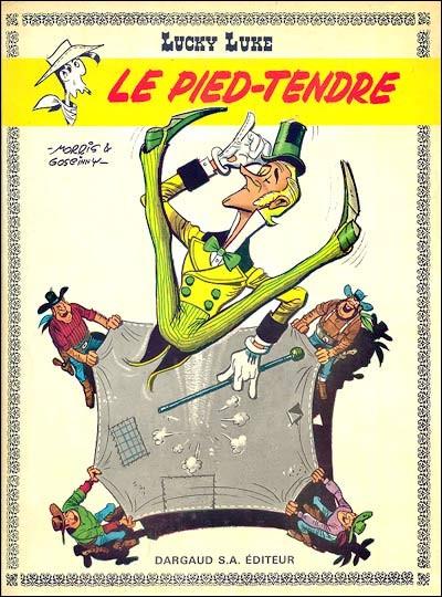 L'un des albums de Lucky Luke est titré «Le pied-tendre», dont le personnage Waldo Badmington est le héros (héros ressemblant d'ailleurs un peu à Uderzo). Waldo est ultra-raffiné, très peu adapté à l'environnement rustre et sauvage de l'ouest américain de l'époque. Quelle est l'origine de l'expression «Pied-tendre»?