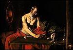 """Le tableau """"Saint Jérôme écrivant"""" a été réalisé par le peintre belge Caravage."""