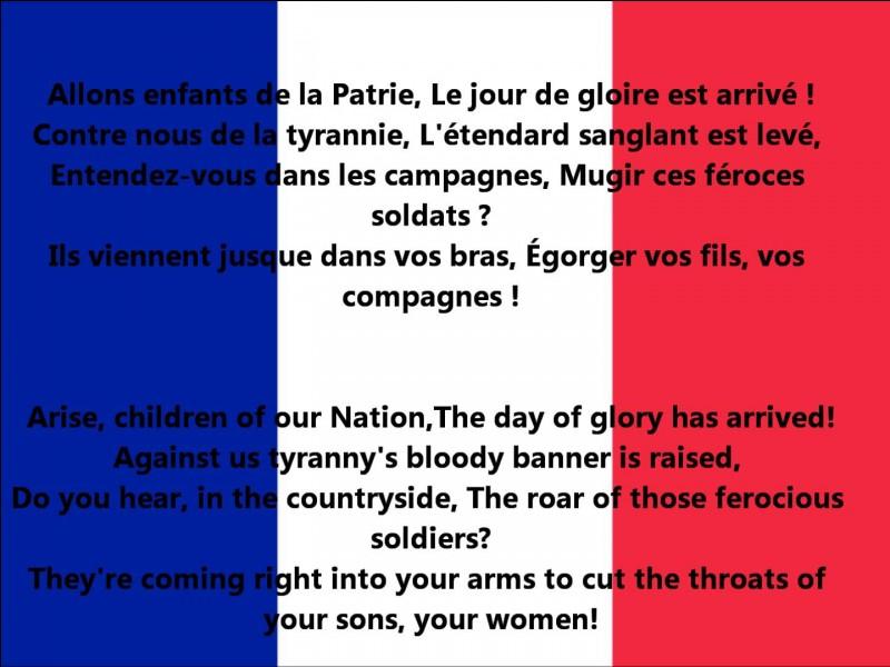 La Marseillaise fut écrite par Ambroise Paré.