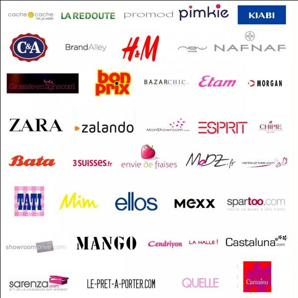 Quelle est ta marque de magasin préférée ?