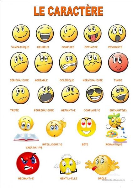 Quel est ton caractère ?