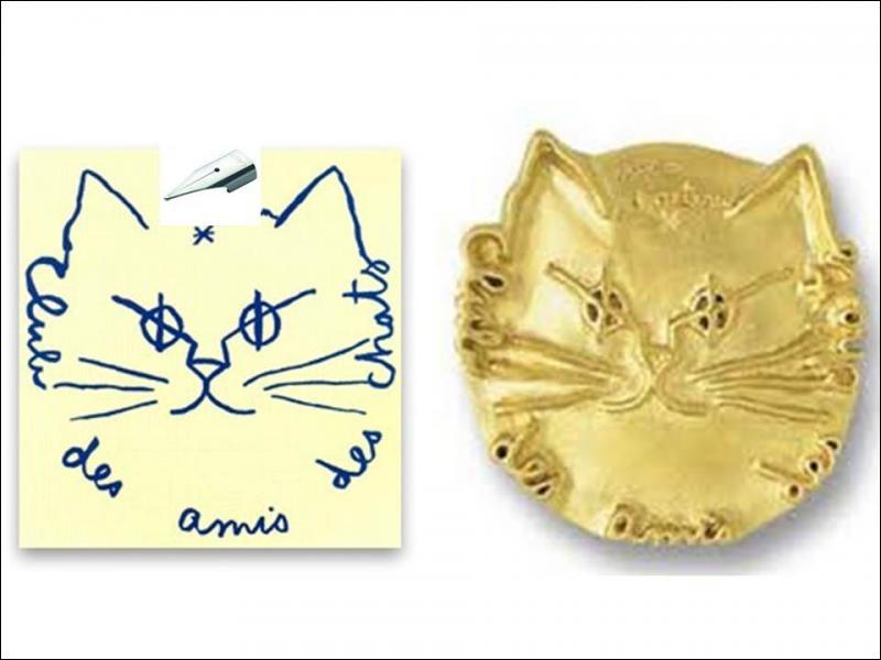 Quel écrivain et scénariste français du XXe siècle a créé cet emblème pour le Club des amis des chats ?