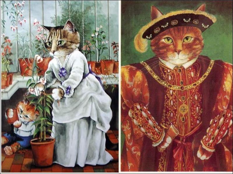 Quelle artiste londonienne du XXe siècle a représenté les chats à toutes les époques, sous tous les aspects ?