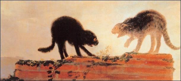 Quel musée espagnol a prêté le ''Combat de chats'' de Goya au Grand Palais de Paris pour l'exposition sur l'art animalier ?