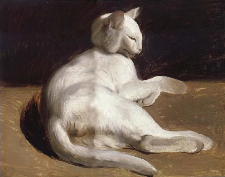 Quel artiste français a peint ce chat blanc ?