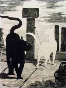 Qui a réalisé cette symphonie en noir et blanc pour le livre ''Les Chats'' de Jules Champfleury en 1868 ?