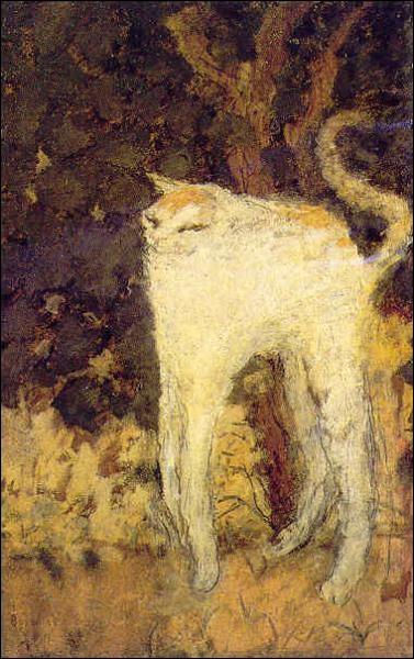 Membre du groupe des nabis, influencé par l'estampe japonaise, il devint le coloriste post-expressionniste le plus lyrique. Il a peint ce chat. Qui est-ce ?