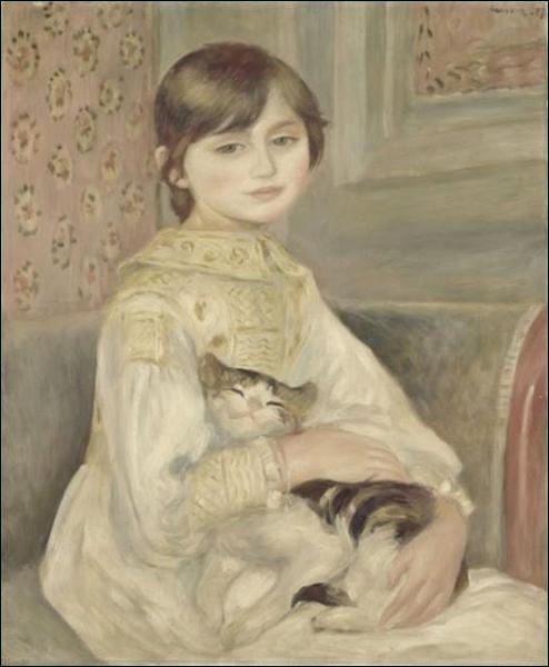 Le modèle d'Auguste Renoir pour ce tableau, ''L'Enfant au Chat'', est...