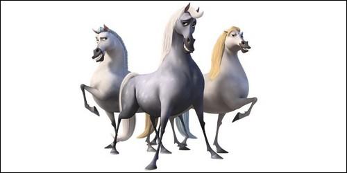 Les chevaux Greta, Hans et Klaus proviennent du film :