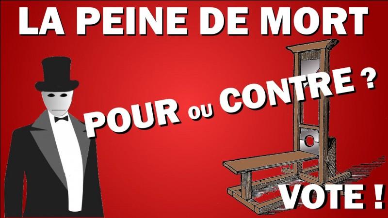 Trouvez la date de l'abolition de la peine de mort. (France)
