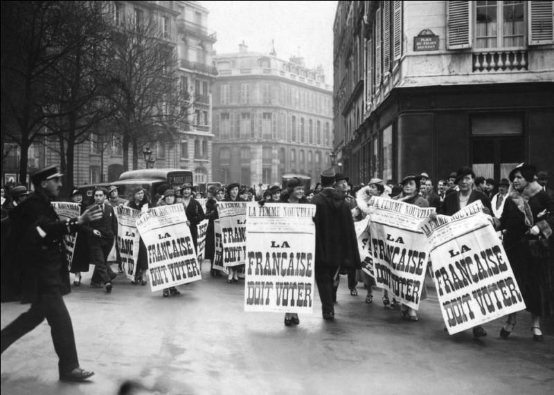 En quelle année les femmes ont-elle eu le droit de votes ?