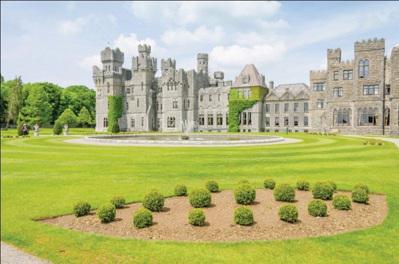 Imposant château médiéval irlandais logé dans un environnement de prestige.
