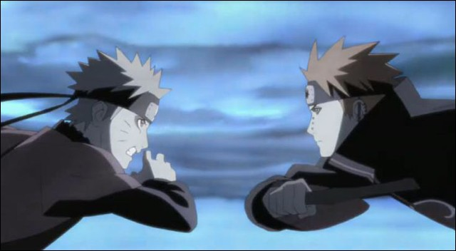Combien de queues Naruto déploit-il lors de son combat contre Pain ?