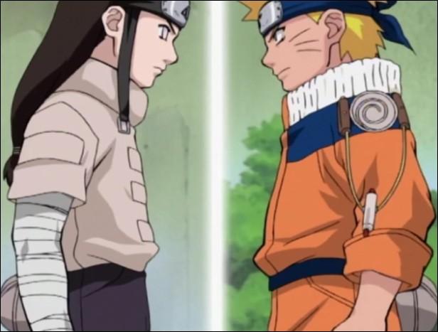 Comment Naruto a-t-il vaincu Neji lors des combats de l'examin chūnin ?