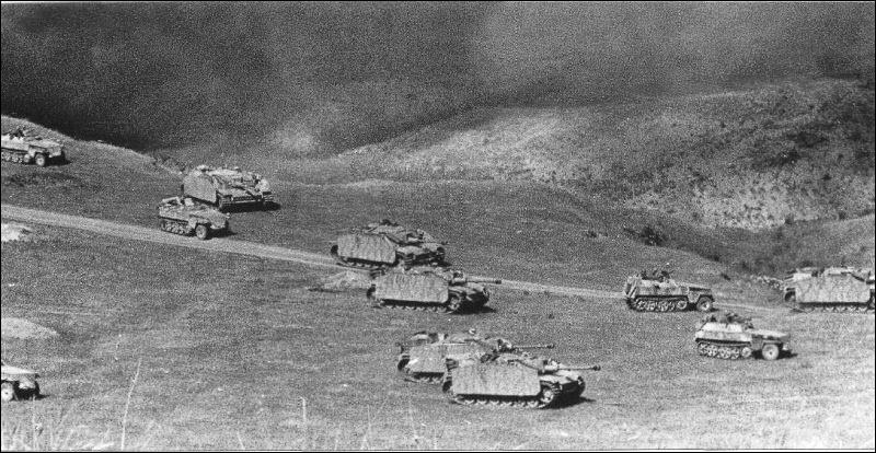 Combien de chars allemands sont envoyés sur les lieux du combat ?