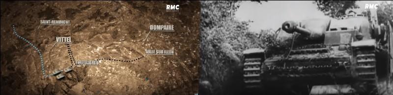 Quels chars allemands ont pris en embuscade les chars alliés à Thuillieres, près de Dompaire ?