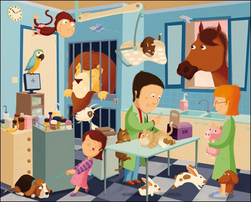 Je suis le mari de la vétérinaire.